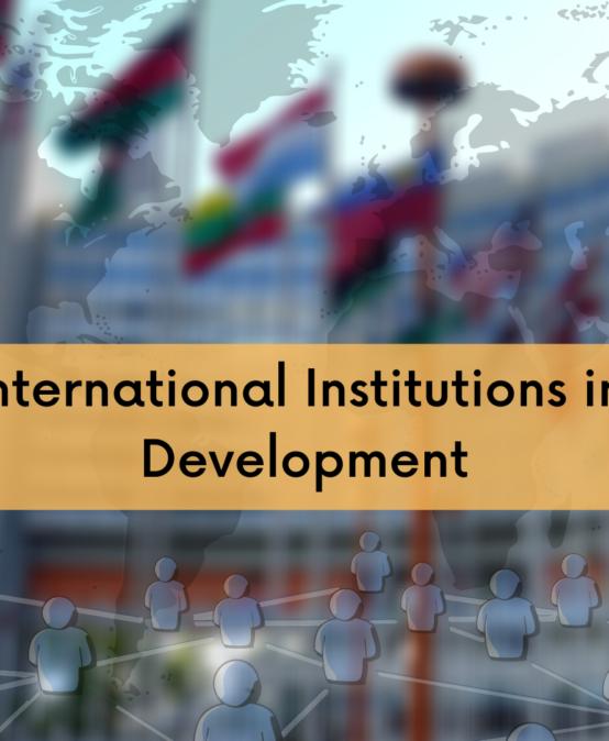 International Institutions in Development Cooperation