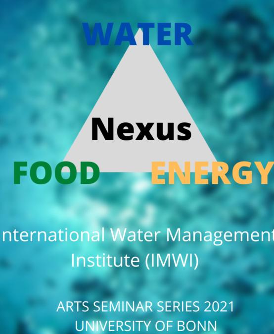 ARTS seminar series summer term: Water-Food-Energy Nexus